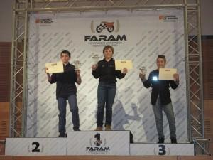 Julián Campeón ,Miguel Martín subcampeón y Marcos Barrientos tercer clasificado.